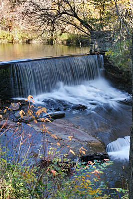 Vermont Fall Foliage Waterfall