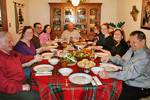 Typical Weibel family Christmas story - food, food, and more food