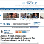 Huffington Post - Nepal Demonstrations