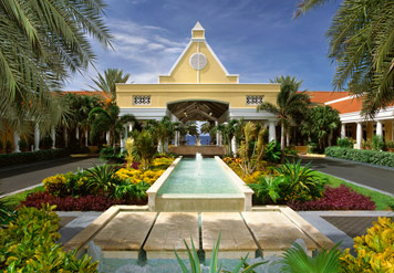 Entrance to Marriott Curacao Resort and Emerald Casino