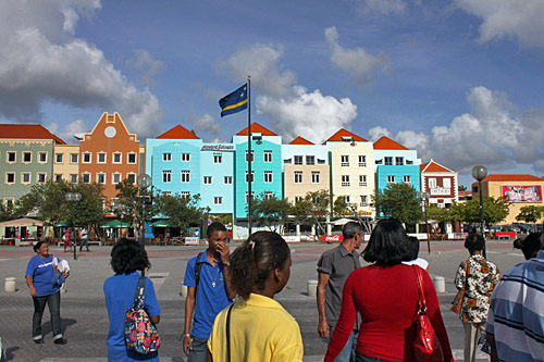 The colorful houses on the Curacao waterfront have UNESCO World Heritage Status