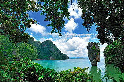 Krabi islands and karst stones in southern Thailand