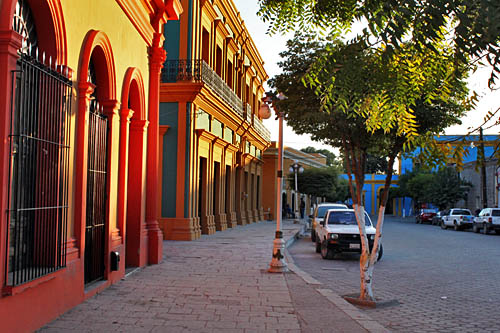 Colorful houses in El Fuerte