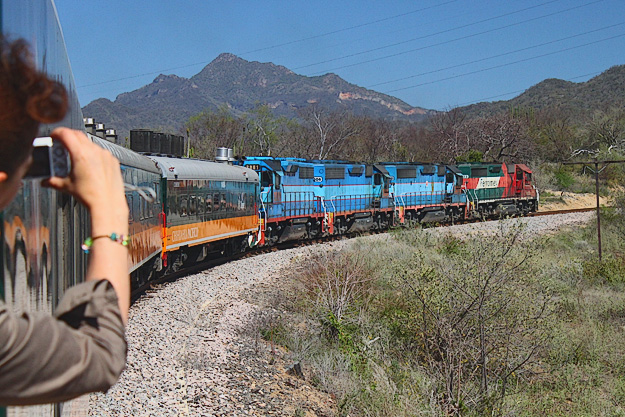 El Chepe Train carries passengers along the rim of Copper Canyon in Mexico