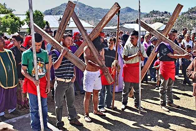 YouTube Video Cerocahui, Mexico. Deep within Mexico's Copper Canyon, faithful worshipers re-enact the twelve stations of the cross on Good Friday, 2010.