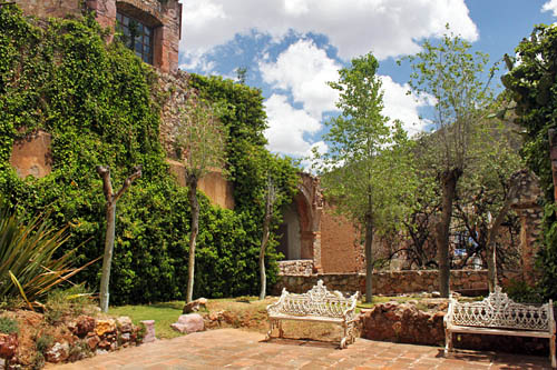 Stunning grounds of the Rafael Coronel Mask Museum, one of the unique museums of Zacatecas