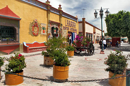 Plaza de San Sebastian in Bernal, Mexico
