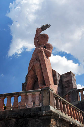 Monument to the miner known as Pipila, who led the first charge of Mexican War for Independence in 1810