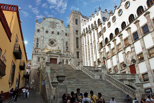 Guanajuato University is located in the historic center of the city