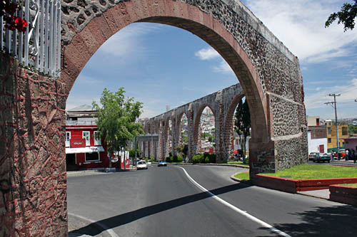 Queretaro's Aqueduct is no longer in use, but is still in excellent condition