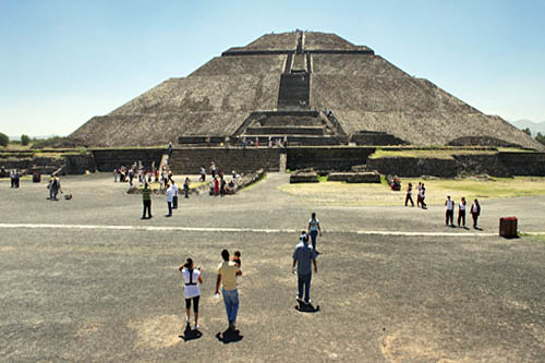 Ancient pyramids of Teotihuacan Mexico