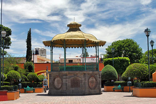 Band kiosk in Plaza Miguel Hidalgo in Tequisquiapan