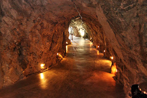 Inside level four of the El Eden silver mine in Zacatecas, Mexico