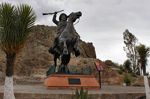 Monumental statue of Francisco (Pancho) Villa, one of three chief revolutionaries of the Mexican Revolution. The statue can be found atop La Bufa, the bluff that overlooks Zacatecas