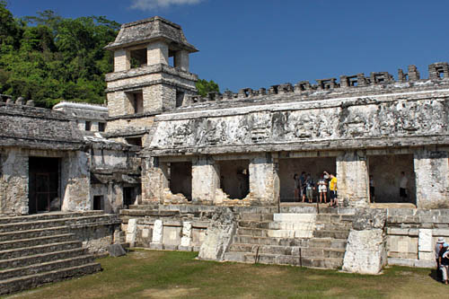 Mayan ruins at Palenque in Chiapas Mexico