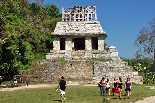 Templo del Sol (Temple of the Sun), one of the structures in the Grupo de las Cruces (Group of the Crosses) at the Palenque Ruins