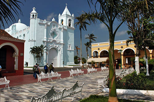 Church of the Virgen of Candelmas on the Zocalo (Central Plaza) in Tlacotalpan