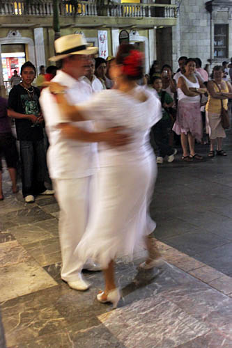 "Dancing the Danzon to traditional Veracruz ""son"" music"
