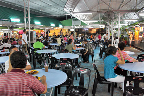 Viva Food Court is popular for dinner, choose from any one of 20 or so vendors, each whipping up a different specialty