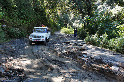 Portion of the rough road to Puma, where I wold experience a five day home stay in Nepal