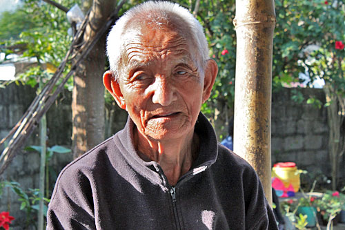 Jampa Chodok, Tibetan freedom fighter now living in a refugee settlement near Pokhara, Nepal