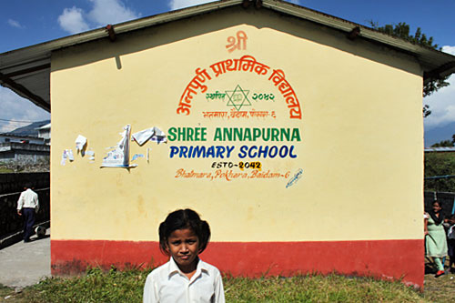 Example of volunteering scams - Annapurna Primary School in Pokhara, one of many institutions that welcome volunteers but are not receiving any donations from the agencies that partner with them
