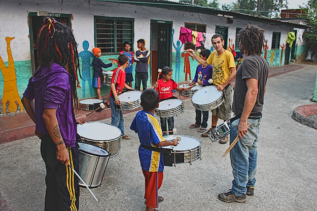 Volunteer drumming program in Pokhara Nepal
