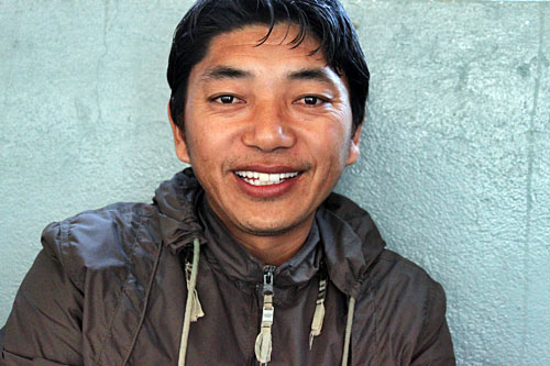 Tseten Tsering, artist and art teacher at Tashiling Tibetan refugee settlement
