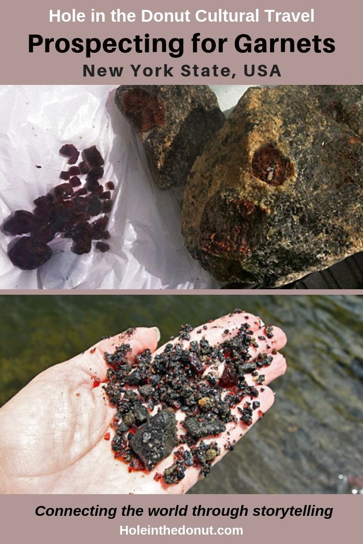 For a small fee visitors can break rocks & uncover Herkimer diamonds (quartz crystals) or pick up garnets by the handful at mines in Adirondack Park.