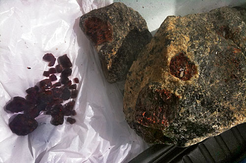 Garnets collected in less than an hour