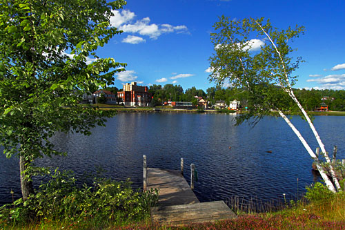 Lake Flower in the village of Saranac Lake, is one of the prettiest of the Adirondack Lakes