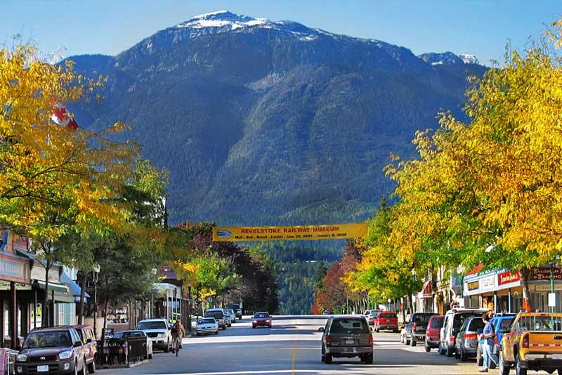Fall Colors on Main Street, Revelstoke, Canada