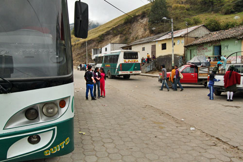 Iliniza Bus delivered me to Chugchilan