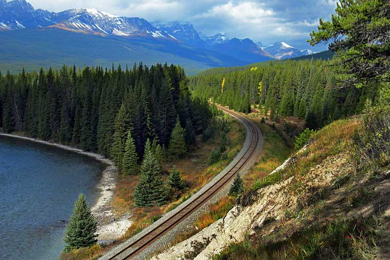 Photo Bow Valley Parkway Banff National Park Canada
