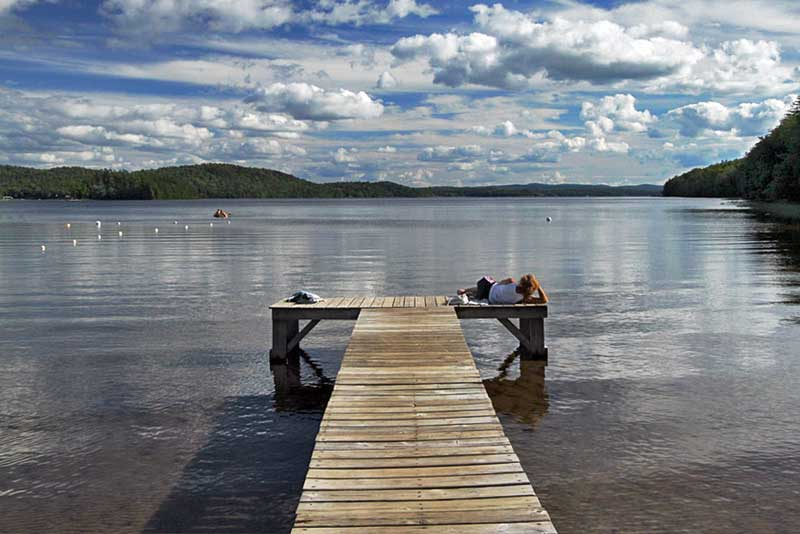 Summer Day on Piseco Lake at the Irondequoit Inn in the Adirondack Mountains of New York