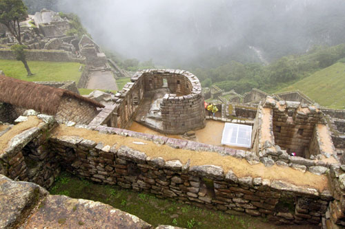 Temple of the Sun, most important site at Machu Picchu