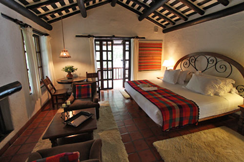 My gorgeous room at the Inkaterra overlooked lush gardens where tropical birds flitted