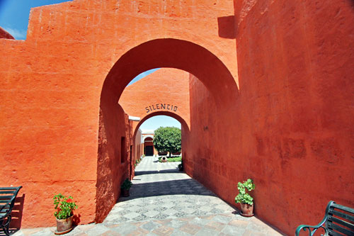 Inside the Santa Catalina Monastery in Arequipa