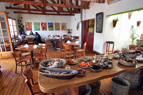 Greens Restaurant in Cusco offers lots of vegetarian options