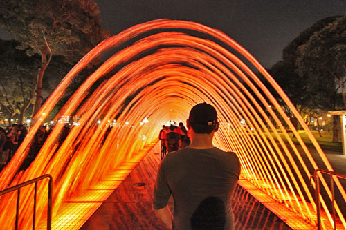 Tunnel of Surprises at Lima's Water Park