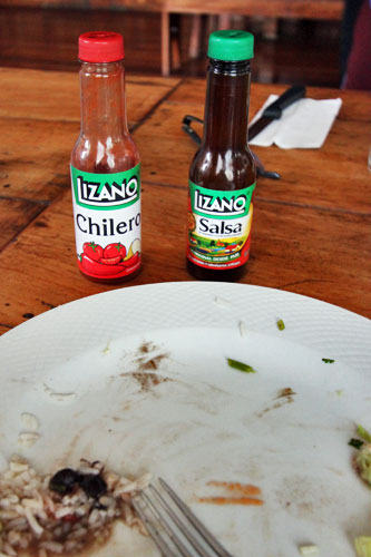 Costa Rica's national culinary pride, Lizano Salsa and Chilero