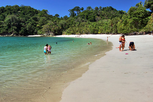 Beaches in Manuel Antonio National Park are siad to be the prettiest in Costa Rica