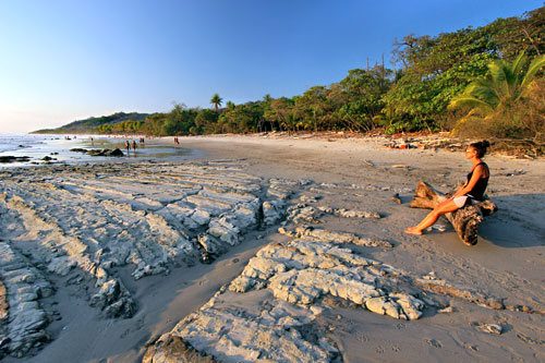 Beach at Santa Teresa, near the southern tip of the Nicoya Peninsula