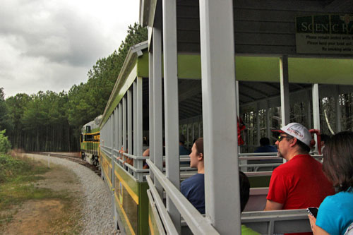 The five mile train ride, included in the price of the entrance fee, is a great way to get your bearings in the park