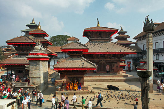 Kathmandu Durbar Square, one of seven UNESCO World Heritage Sites in the Kathmandu Valley around Kathmandu, Nepal