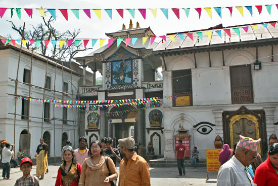 Pashupatinath Temple, where only Nepali of the Hindu or Buddhist faith may enter