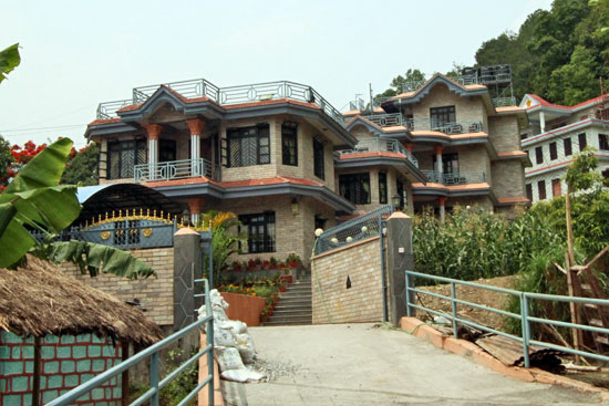 Personal residence of Three Sisters is reputed to be largest home in Pokhara