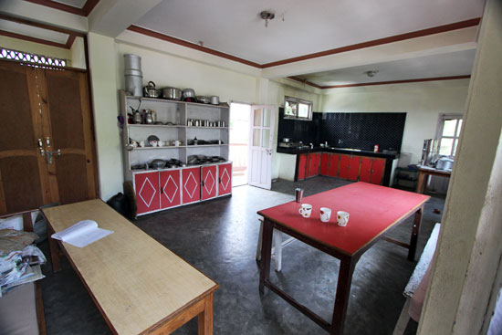 Kitchen for trekking guide trainees