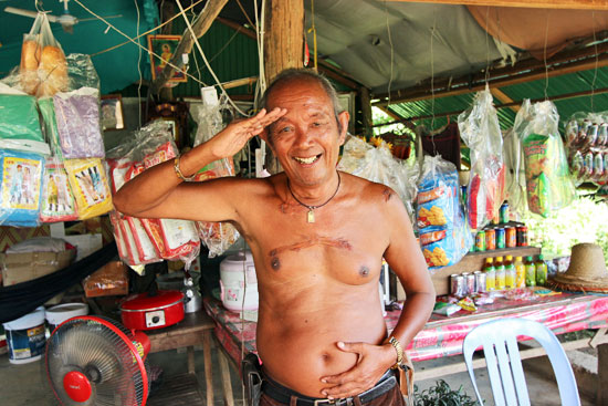 Mr. Sum, war hero who owns store at end of the line on Bamboo Train