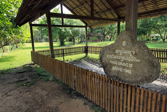 "One of the mass graves at Choeung Ek Genocidal Center, better known as the ""Killing Fields"""